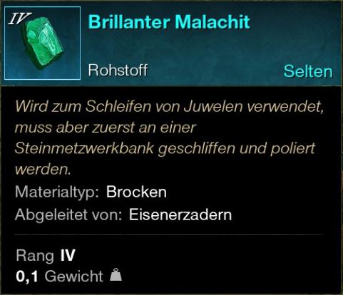 Brillanter Malachit