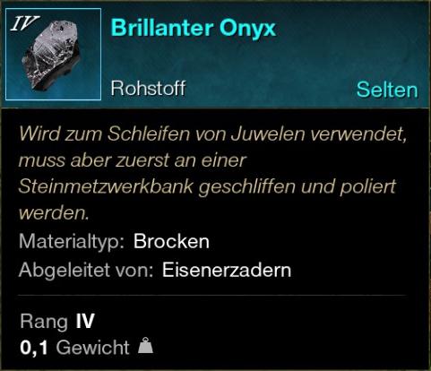 Brillanter Onyx