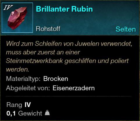 Brillanter Rubin