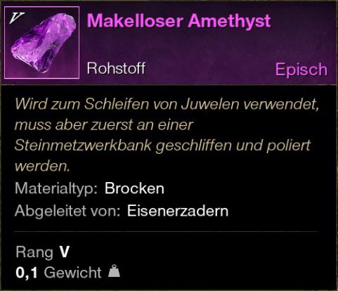 Makelloser Amethyst
