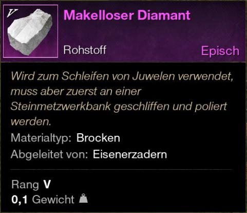 Makelloser Diamant