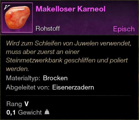 Makelloser Karneol