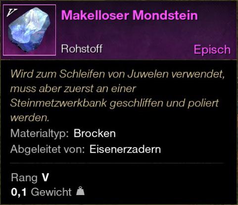 Makelloser Mondstein