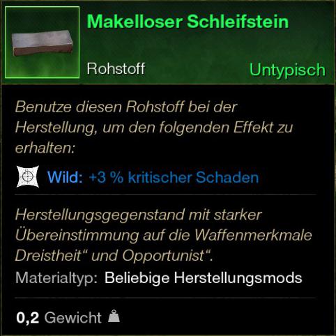Makelloser Schleifstein