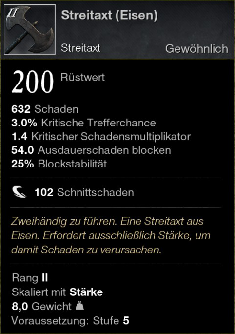 Streitaxt (Eisen)