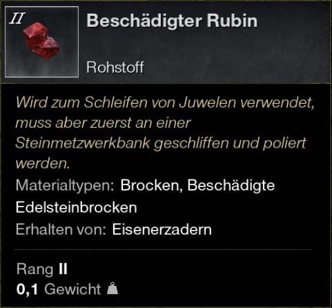 Beschädigter Rubin