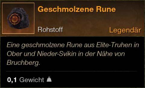 Geschmolzene Rune