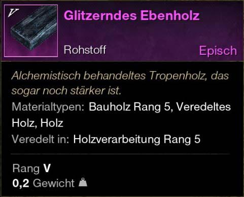 Glitzerndes Ebenholz