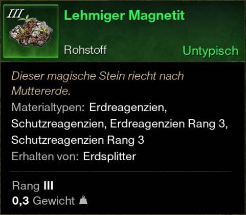 Lehmiger Magnetit