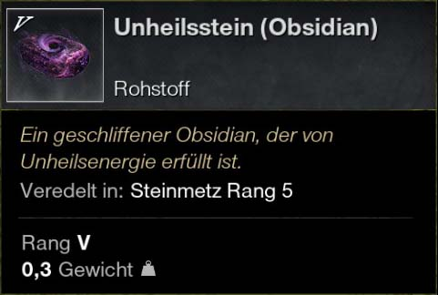 Unheilstein (Obsidian)